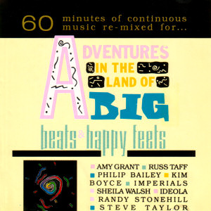 [Image: 'Adventures In The Land Of Big Beats & Happy Feets' Front Cover]